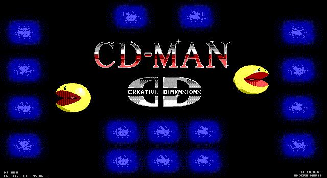 תמונה מתוך המשחק CD-Man