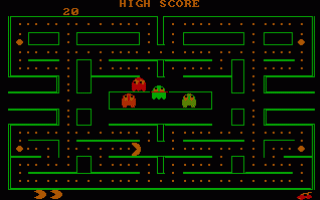 תמונה מתוך המשחק PacMan